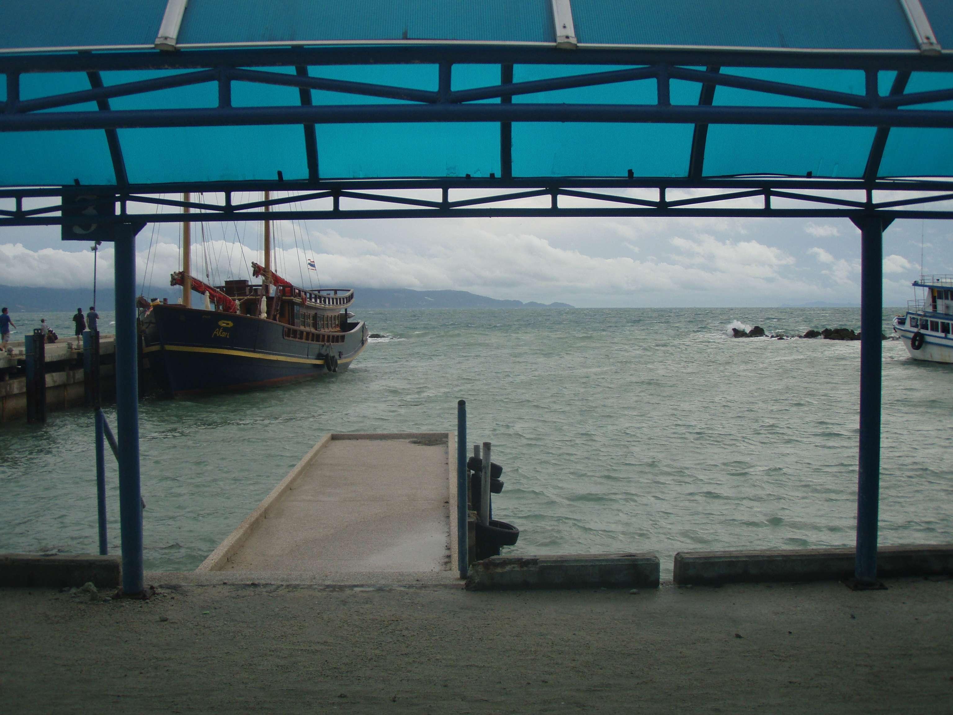 und das der Ausblick vom zweiten Boot