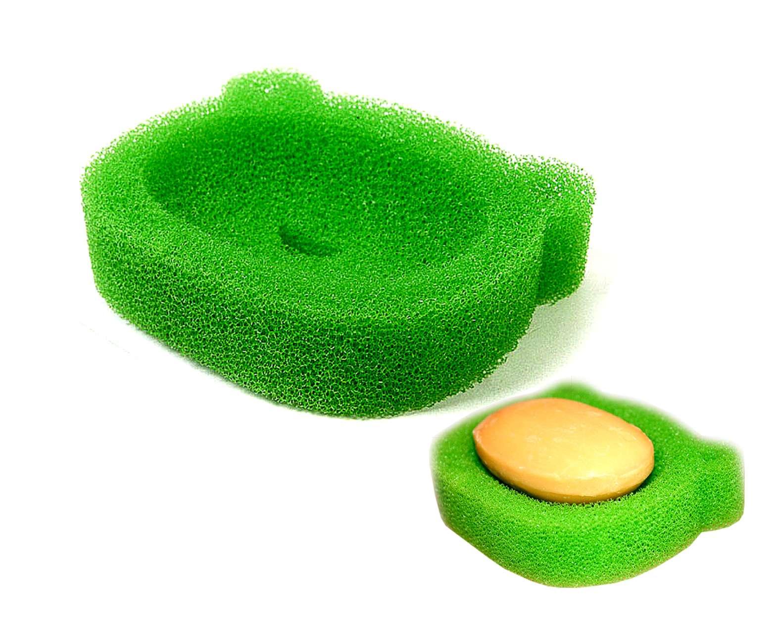 New 2p frog shape sponge soap holder soap dish tray kitchen sink bathroom green ebay - Frog sponge holder kitchen sink ...