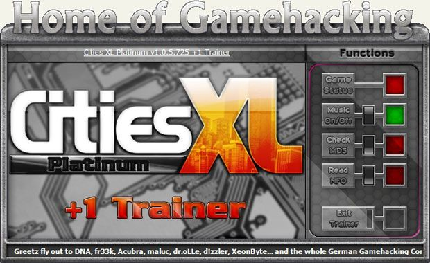 Cities XL: Platinum Edition 1.0.5.725 +1 Trainer [HoG]