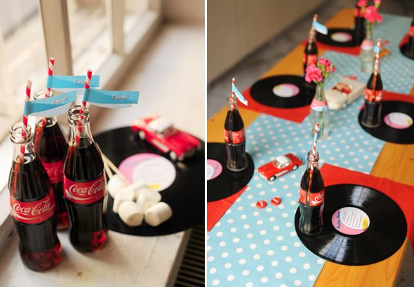 Pin pin party cakes 21st birthday 50s theme 70s adult for 50s party decoration ideas