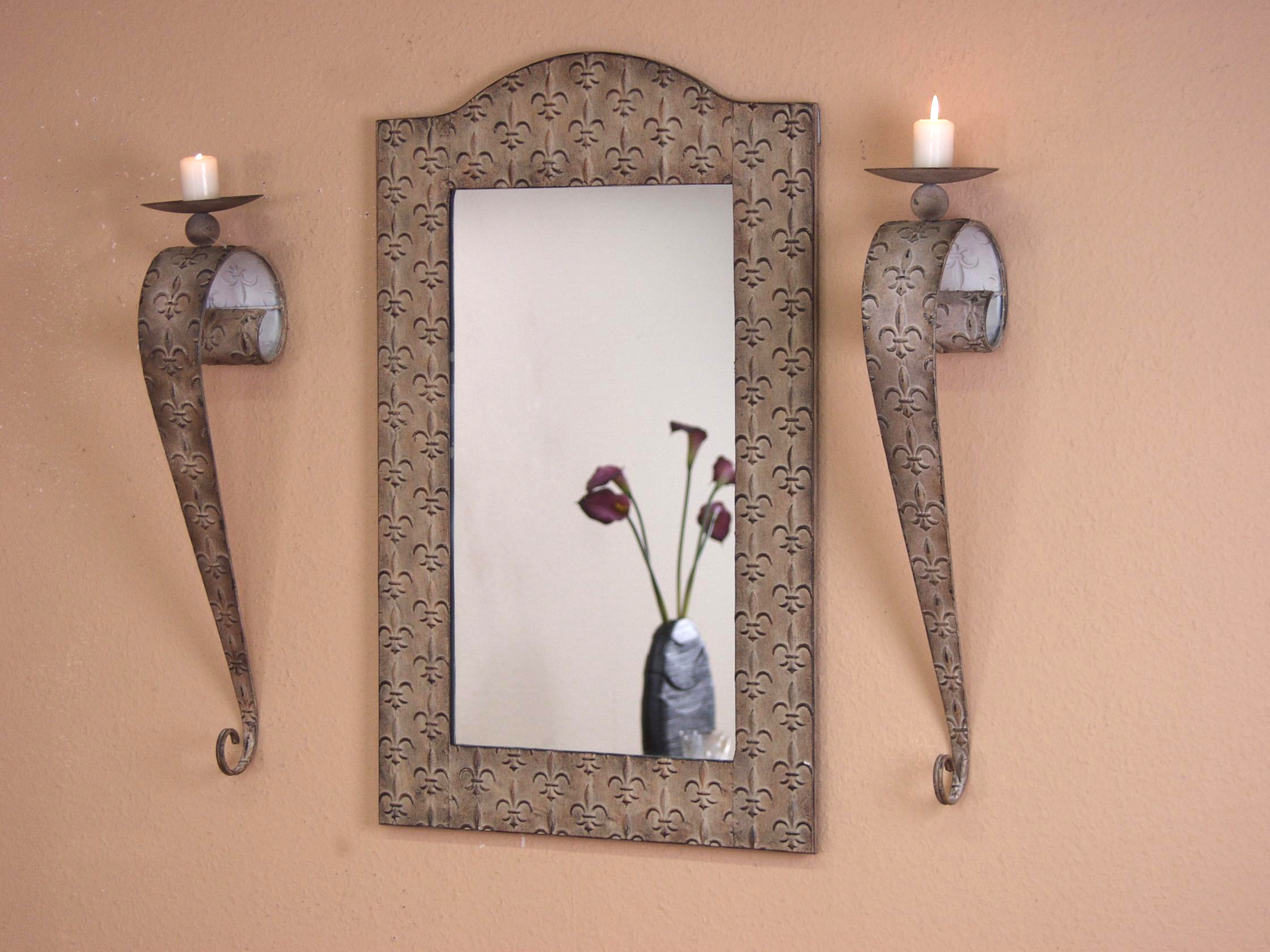 spiegel wandspiegel wand eisen antik creme cremefarben flurspiegel 50 x 80 cm ebay. Black Bedroom Furniture Sets. Home Design Ideas